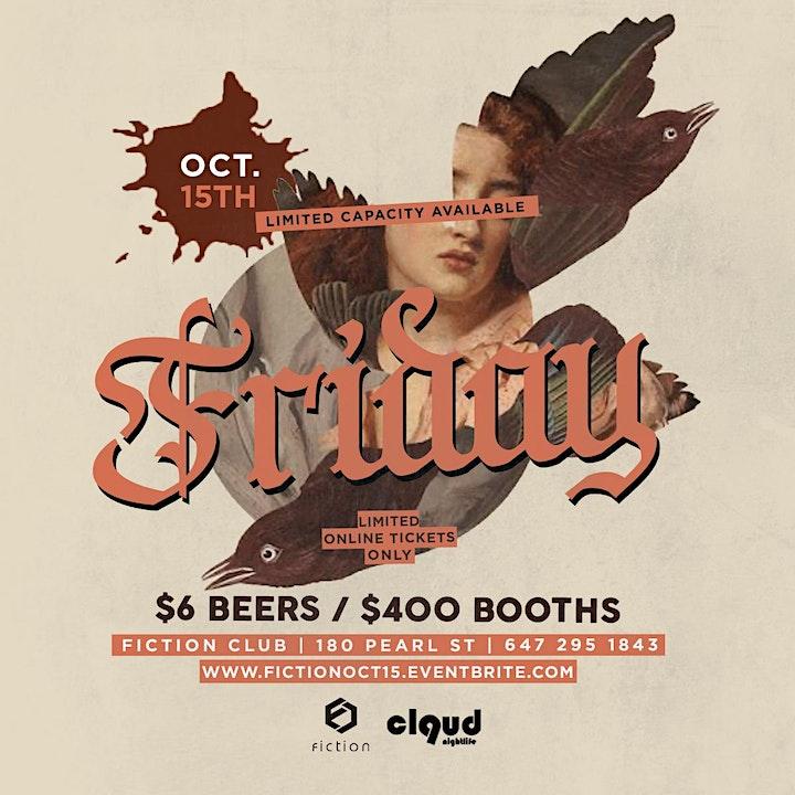 Fiction Fridays @ Fiction | Fri Oct 15 | $400 Boot image