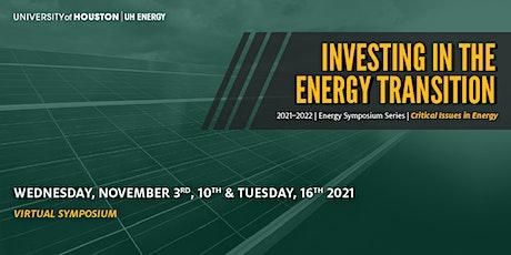 CCME Symposium - Energy Transition Investing  Webinar Series biglietti