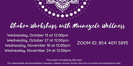 Chakra Workshops with Mooncycle Wellness tickets
