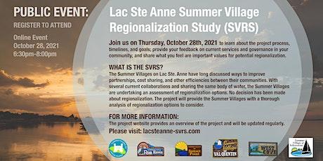 Public Online Event: Summer Villages of Lac Ste. Anne Regional Study (SVRS) tickets