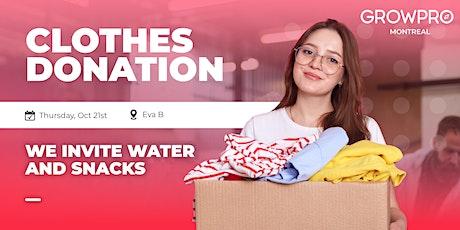 Clothes donation at Eva B. ♻️ billets