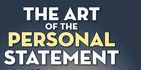 Art of the Personal statement session by Bernard Devaney. tickets