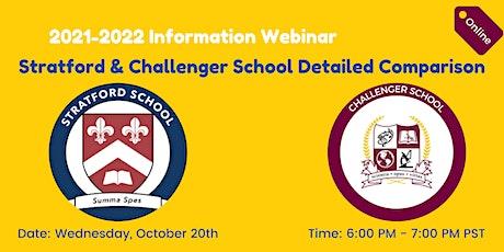Stratford & Challenger School Detailed Comparison: Information Webinar tickets