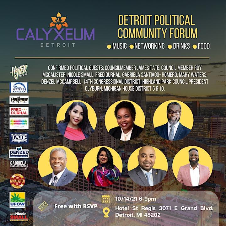 Detroit Political Community Forum image