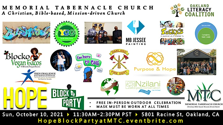 HOPE Block Party: MTC's 96th Anniversary Outdoor Celebration image