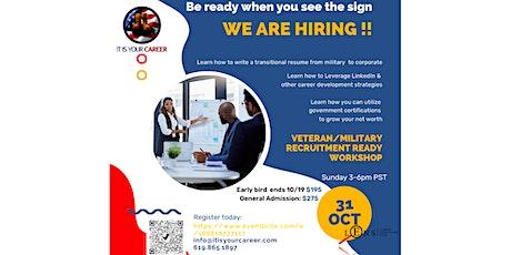 Veteran/Military Recruitment Ready Workshop tickets
