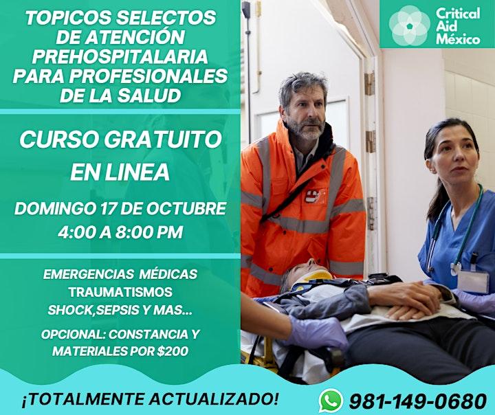 Imagen de Tópicos Selectos de Atención Prehospitalaria para Profesionales - GRATIS