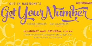 Out in Harmony's GOT YOUR NUMBER