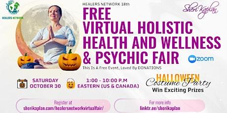 Halloween Psychic Health & Wellness Fair on Zoom- 9 hours- 15 Speakers tickets