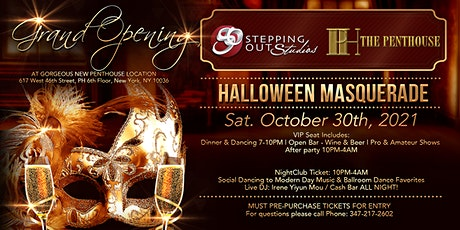 Grand Re-Opening of Stepping Out Studios: Halloween Masquerade tickets