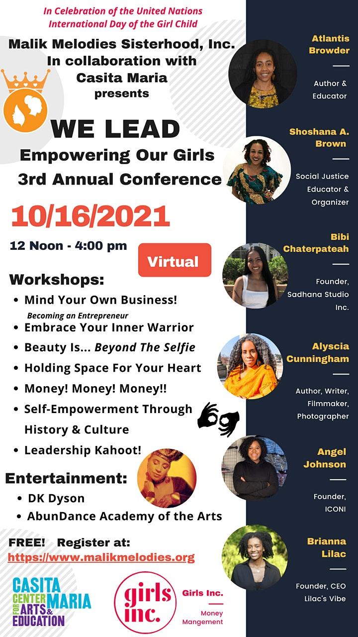 3rd Annual WE LEAD: Empowering Our Girls Conference image