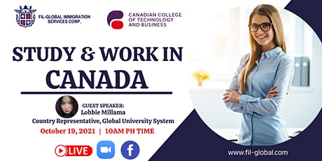 FREE WEBINAR: STUDY AND WORK IN CANADIAN COLLEGE OF TECHNOLOGY AND BUSINESS tickets