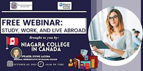 FREE WEBINAR: STUDY AND WORK IN NIAGARA COLLEGE tickets