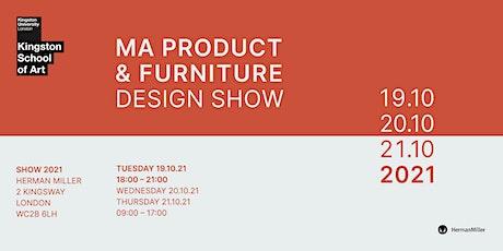 KSA Product & Furniture Design MA Show 2021: Herman Miller (Evening Event) tickets