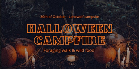 Halloween campfire with wild foraged food and torchlit mushroom walk tickets