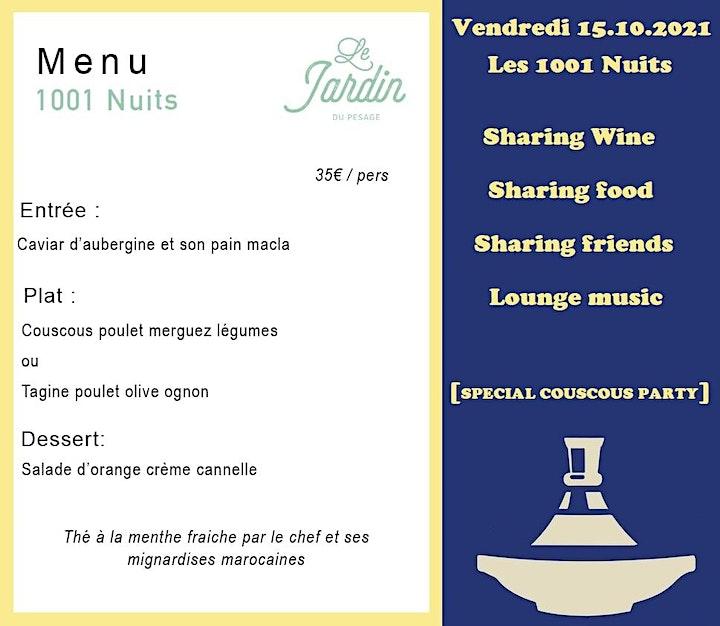 Wine Garden - Les 1001 Nuits  du Pesage / La COUSCOUS Party / Fridays 15.10 image