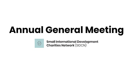 SIDCN Annual General Meeting 2021 tickets