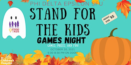 Stand For The Kids 2021- Virtual Games Night tickets