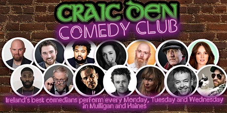 Craic Den Comedy Club - November 9th tickets