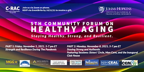 5th Community Forum On Healthy Aging: Staying Healthy, Strong, & Resilient tickets