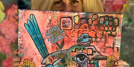 Beautiful Blooms and Bodacious Birds: an arty adventure in painting BIG! tickets