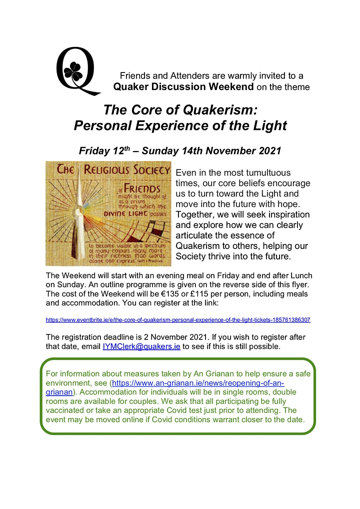 The Core of Quakerism: Personal Experience of the Light image