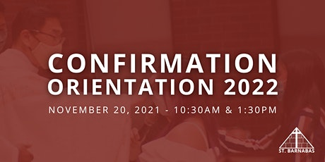 Confirmation Orientation - St. Barnabas, St. Bede, St.Columba, Sacred Heart tickets