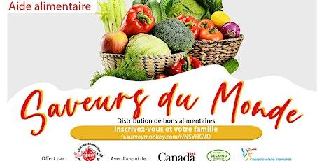 Saveurs du monde - Distribution des bons alimentaires billets