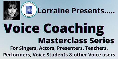 Voice Coaching Masterclass Series tickets