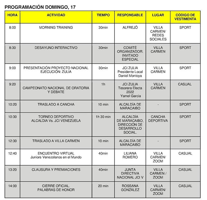 Imagen de Convención Nacional JCI Venezuela