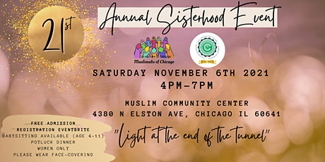 21st Annual Sisterhood Event [Light at the end of the Tunnel] tickets