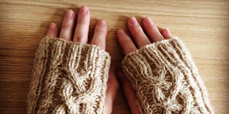 Beginners Group knitting class - reserve your place, pay later. £55 for 3hr tickets