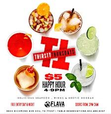 Thirsty Thursdays @ Flava tickets