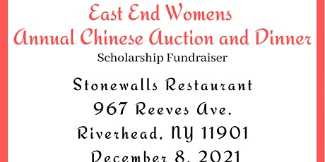 East End Women's Dinner and Chinese Auction tickets