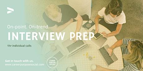 Interview Preparation techniques & practice 1:1 clinics tickets