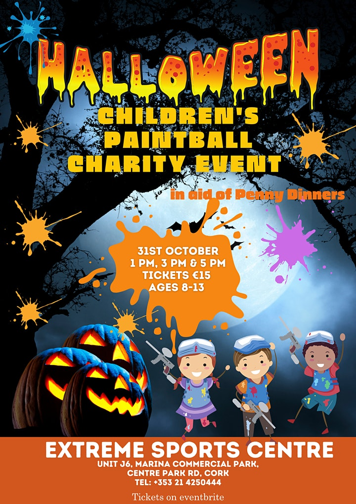 Children's Halloween Paintball Charity Event 1 pm Slot image