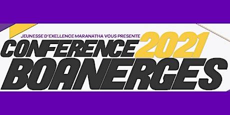 Conférence Boanergès 2021 billets