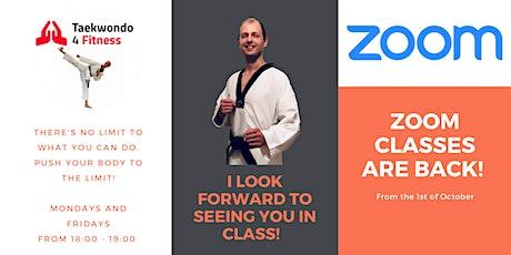Taekwondo Online Fitness Classes via Zoom | PAR-Q required! tickets