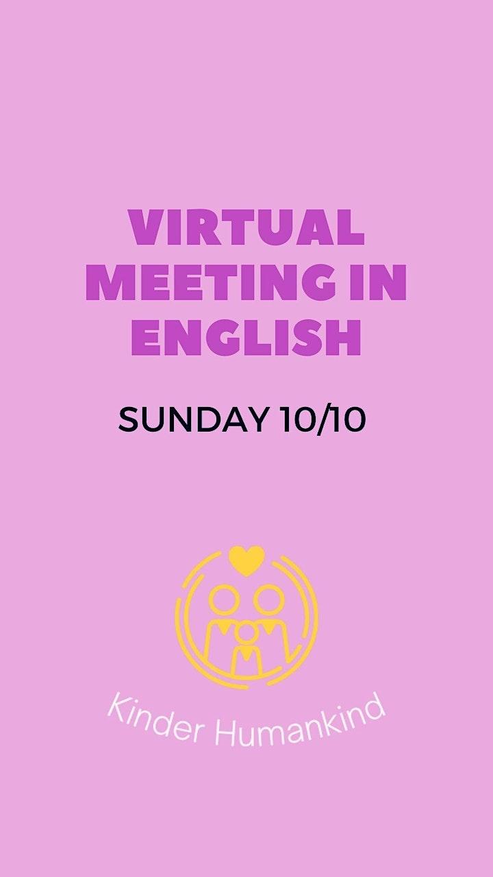 Imagen de Virtual meeting in English