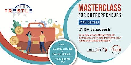 MasterClass for Entrepreneurs by BV Jagadeesh (Fall Series- 2021) tickets