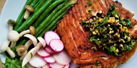 In-Person Class: Farmer's Market Bounty: Chef's Surprise Salmon Supper (SF) tickets