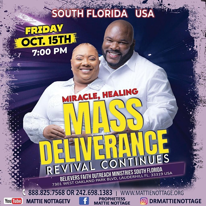 SOUTH FLORIDA...REGISTER NOW FOR ANOTHER POWERFUL FRIDAY NIGHT REVIVAL!! image