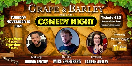 Grape and Barley Presents Comedy Night - a Beerly Funny Production tickets