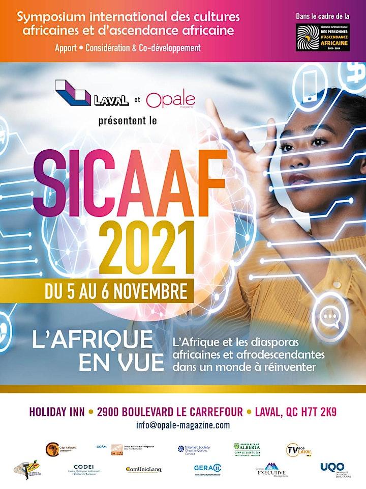 Image de SICAAF 2021 - L'AFRIQUE ET LES DIASPORAS AFR. DANS UN MONDE À RÉINVENTER