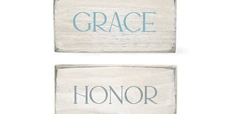 Grace Honor Cherish – Wood Plaque Workshop tickets