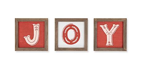 JOY Christmas – Wood Blocks Workshop tickets