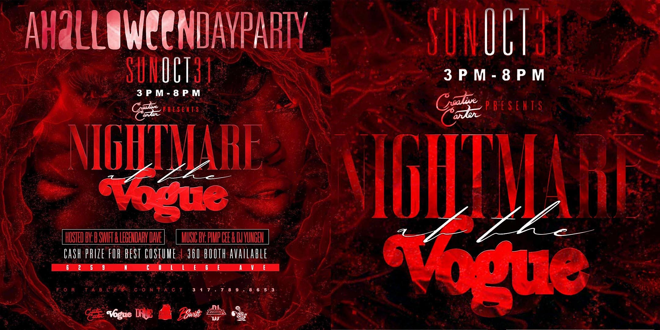 Nightmare at The Vogue: A Halloween Day Party