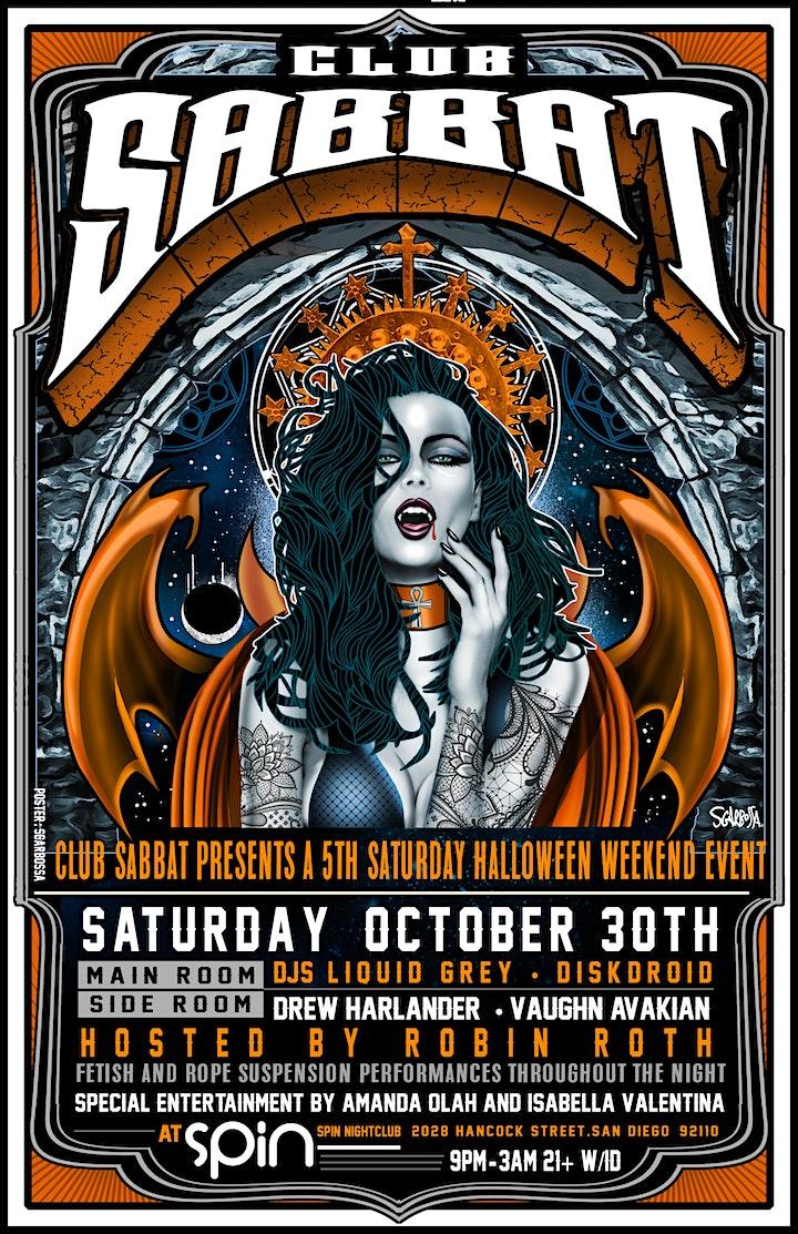 Club Sabbat Halloween Saturday, October 30 image