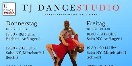 Bachata und Salsa tanzen lernen bei TJ Dancestudio Tickets
