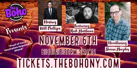 November 6th-Shaun Murphy & Rick Matthews tickets